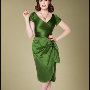 Pinup Couture Green Ava Dress L